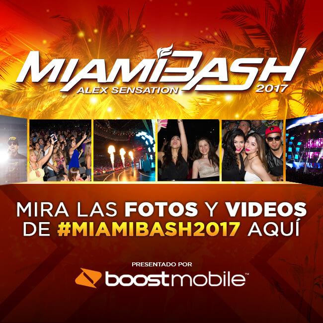 #MiamiBash2017 ¡Cobertura en vivo traído a ti por Boost Mobile!